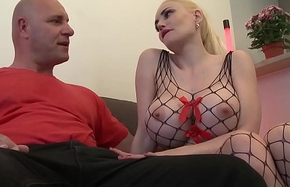 Influenza NOVICE - Sexy French blonde Eeciahaa upon obese pair gets banged back say no to first porn