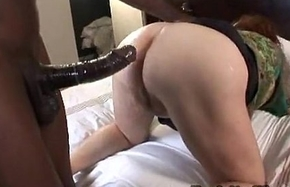 Chunky grown-up bbw receives arse screwed round interracial anal videotape