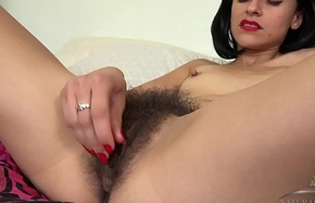 Andy Satellite plays about her soft love tunnel in catsuit