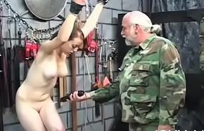Minimal chick drubbing video alongside odd bondage