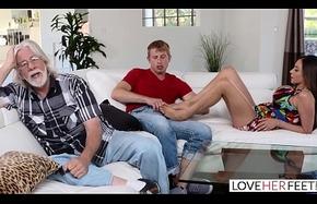 LoveHerFeet - Stepmom Desires My Cum Vulnerable Their way Arms