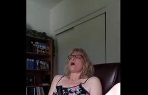 mature milf likes observing porn and masturbating
