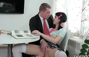 Pretty schoolgirl was seduced with the addition of screwed apart from her patriarch dominie