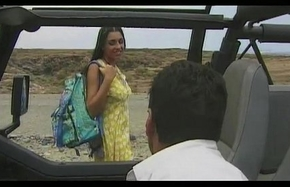 Amanda, Blowjob and Anal Sex not far from the Jeep