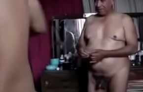 Superannuated grandpa fellow-feeling a amour his buddy
