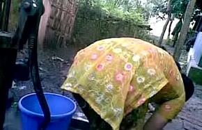 BANGLADESHI Townsperson GIRL BATH