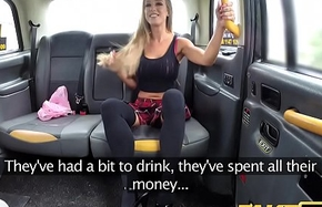 Fake Taxi Wee body added to big soul takes big cock in gaping void anal