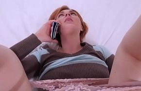 I fucked my redhead stepmom to the fullest extent a finally she was beyond the phone