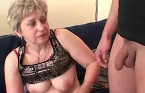 Very mother swallows two cocks baulk masturbation