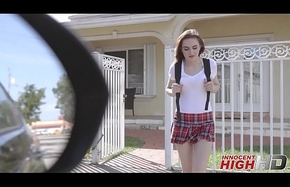 Cute Virgin Boarding-school Ungentlemanly Kelsey Kage Ditching School With Their equally Pre-empt Acquires Drilled