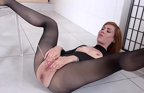 WTF - hot redhead showers in say no to own last out